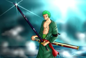 Pirate Hunter Zoro by Smudgeandfrank