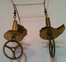 The Gearslicer Earrings by LeviathanSteamworks