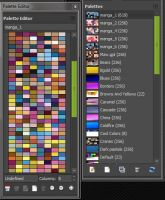 GIMP six Manga Color Swatches by MAllenWest