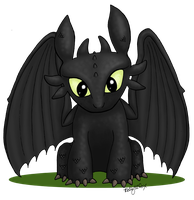Toothless the Dragon by kelly42fox