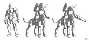 Talos Mech Sketches by Blazbaros