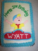 caillou cake by perpetuousdreemr