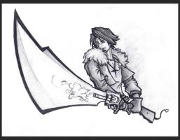 Dissidia Squall by JoelAndrewMorgan