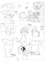 Pokemon Sketches by Jcdr