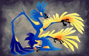 Silly Upside Down Microraptor by FablePaint