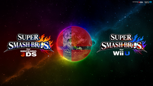 Super Smash Bros. Wii U/3DS Logo Wallpaper #70 by TheWolfBunny