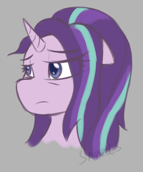 Starlight glimmer headshot doodle by SanzoLS