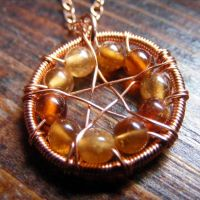 Hessonite Garnet Pentacle by MoonLitCreations