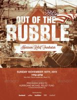 Out of the Rubble Church Flyer Template by loswl