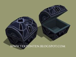 KH2 Papercraft: Castle That Never Was Chest by Tektonten