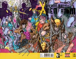 UNCANNY X-MEN HERO INITIATIVE SKETCH COVER by stalk