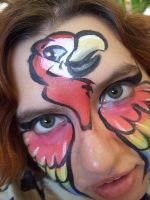 Parrot Face Paint by BananaFairy59
