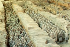 Terracotta field close-up 2 by Lai-Wei