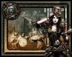 Jules Verne,Steampunk by CrazyFantasy71