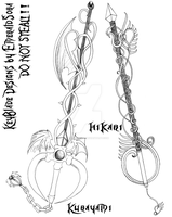 KeyBlade Designs set 6 by EmeraldSora