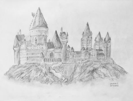 Hogwarts, School of Witchcraft and Wizardry by levanacats