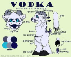 Vodka fursuit sheet by Grion