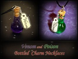 Venom and Poison Bottle Charms by YellerCrakka