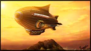 Un dirigible by Riggsfur