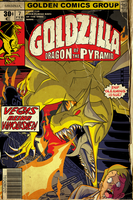 Goldzilla issue 2 by MichaelJLarson