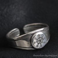 Silver Chaos Star ring by Sulislaw