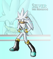 Silver The hedgehog poster by blazeofdarkness