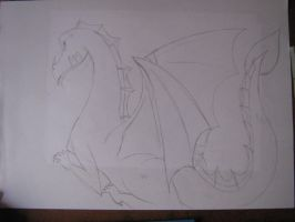 Dragon for my sister X3 by Linadoon