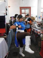 Chun Li cosplayer pic angle kick by ChrisNext