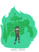 Shisui Uchiha with Susano'o - Adventure Time style by Musical-Coffee