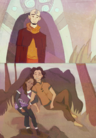 Legend of.. Aang, Kya and Bumi by dinosaurius