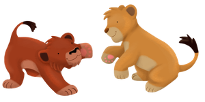 Fuzzy Cubs At Play by albinoraven666fanart
