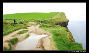 above Cliffs of Moher by girl