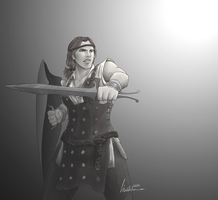 Aveline once again: DA2 by FluffyTurtle