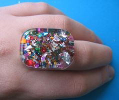 Glitter sprinkle ring by BazaarHereToday