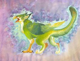 Green gryphon by dorini