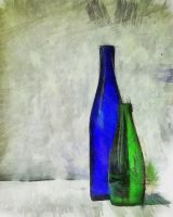 Still-life with bottles by Volodina-Yulia