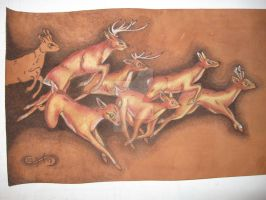 pyrograph deers by miguelcastrochemy