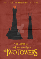 Lord of the Rings: TT (2002) - Minimalist Poster by Stormy94