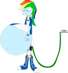 Rainbow Dash's water inflation by Angry-Signs