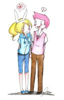 Modern Fionna and PG~ by diabolico0anghel