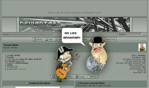 WE LIKE DEVIANTAAAARTTT by koosh-llama