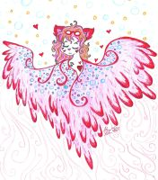 Mythic Miss Kitty the flying cat by Kittychan2005