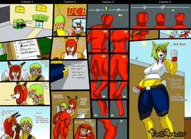 Fusion Comic -Morphsuit Macarena- by TwiliGravity
