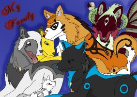 CS - My Family Wolf - Colour by SoulEevee99