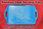 Rainbow Dash Serving Tray by AnimeAmy