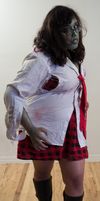 Zombie School Girl 2 by Angelic-Obscura