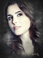 Sharon den Adel sketch by perlaque