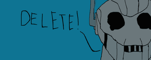 Attempt to do a Cyberman by FrostQuill