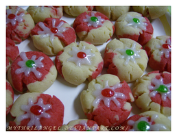 Peppermint Splat Cookies by MythrilAngel