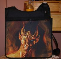 Golden Dragon Satchel by Eva-the-DragonLady
